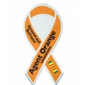 AGENT ORANGE AWARENESS ' SPRAYED AND BETRAYED' RIBBON MAGNET