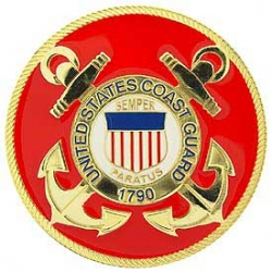 "CAR GRILL BADGE-USCG (3"")"