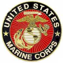 "CAR GRILL BADGE-USMC (3"")"