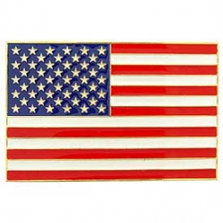 "CAR GRILL BADGE-USA FLAG (2-1/2""x 3-13/16"")"