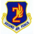 "PATCH-USAF, 002ND, SHLD (3"")"