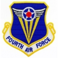 "PATCH-USAF, 004TH, SHLD (3"")"