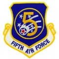 "PATCH-USAF, 005TH, SHLD (3"")"