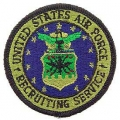"PATCH-USAF LOGO, RECRUIT. (SUBDUED)SVC. (3"")"