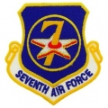 "PATCH-USAF, 007TH, SHLD (3"")"