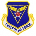 "PATCH-USAF, 012TH, SHLD (3"")"