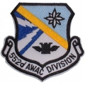 "PATCH-USAF, 552ND AWAC (3-1/2"")"
