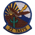 "PATCH-USAF, 022ND TASTS (3"")"