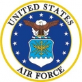 "PATCH-USAF LOGO (XLG) (10"")"