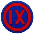 "PATCH-ARMY, 009TH CORPS (3"")"