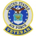 "PATCH-USAF EMBLEM, VETERAN (3"")"