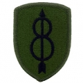 "PATCH-ARMY, 008TH INF. DIV. (SUBDUED) (3"")"