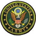 "PATCH-ARMY LOGO, GOLD BULLION (LRG) (4"")"