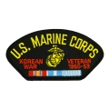 MARINE CORPS KOREAN WAR HAT PATCH- WITH OPTION TO ADD TO A HAT