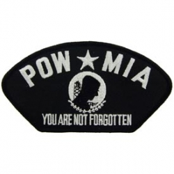 "PATCH-POW*MIA, HAT (2-3/4""X5-1/4"") - WITH THE OPTION TO ADD TO A HAT"
