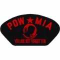 "PATCH-POW*MIA, HAT (RED) (2-3/4""X5-1/4"") - WITH THE OPTION TO ADD TO A HAT"