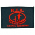 "PATCH-KIA, FLAG/SHIELD, BLK (3-3/8"")"