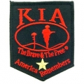 "PATCH-KIA, SHIELD, BLACK (GOLD STAR HONOR) (3-1/4"")"