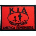 "PATCH-KIA, FLAG/SHIELD, RED (2-1/2""X3-1/2"")"