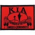 "PATCH-KIA, FLAG/SHIELD, RED ""NATIVE AMERICAN"" (2-1/2""X3-1/2"")"