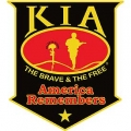 "PATCH-KIA, SHIELD, BLACK (GOLD STAR HONOR) (XLG) (12"")"