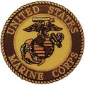 "PATCH-USMC LOGO (DESERT) (3"")"