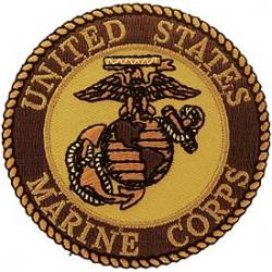 "PATCH-USMC LOGO (DESERT) (3"")"