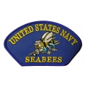 "PATCH-USN, HAT, SEABEES (2-3/4""X5-1/4"")- WITH THE OPTION TO HAVE IT ADDED TO A HAT"