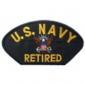 "PATCH-USN, HAT, LOGO, RET (2-3/4""X5-1/4"")- WITH THE OPTION TO HAVE IT ADDED TO A HAT"