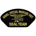 "PATCH-USN, HAT, SEAL TEAM (2-3/4""X5-1/4"")- WITH THE OPTION TO HAVE IT ADDED TO A HAT"