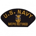 "PATCH-USN, HAT, MCPO RET (2-3/4""X5-1/4"")- WITH THE OPTION TO HAVE IT ADDED TO A HAT"