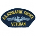 "PATCH-USN, HAT, SUB SVC VET (2-3/4""X5-1/4"")- WITH THE OPTION TO HAVE IT ADDED TO A HAT"