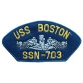 "PATCH-USN, HAT, USS, BOSTON SSN7 (2-3/4""X5-1/4"")- WITH THE OPTION TO HAVE IT ADDED TO A HAT"