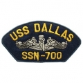 "PATCH-USN, HAT, USS, DALLAS (2-3/4""X5-1/4"")- WITH THE OPTION TO HAVE IT ADDED TO A HAT"