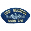 "PATCH-USN, HAT, USS, GEORGIA (2-3/4""X5-1/4"")- WITH THE OPTION TO HAVE IT ADDED TO A HAT"