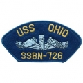 "PATCH-USN,HAT,USS,OHIO SSBN (2-3/4""X5-1/4"")- WITH THE OPTION TO HAVE IT ADDED TO A HAT"