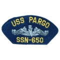 "PATCH-USN, HAT, USS, PARGO SSN (2-3/4""X5-1/4"")- WITH THE OPTION TO HAVE IT ADDED TO A HAT"