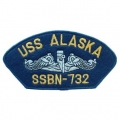 "PATCH-USN, HAT, USS, ALASKA (2-3/4""X5-1/4"")- WITH THE OPTION TO HAVE IT ADDED TO A HAT"
