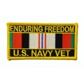 Enduring Freedom Navy Patch- with the option to have it added to a hat