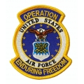 Enduring Freedom Air Force Patch- with the option to have it added to a hat