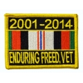 Enduring Freedom 2001-2014 Ribbon Patch- with the option to have it added to a hat