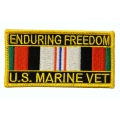 Enduring Freedom Marine Corps Patch- with the option to have it added to a hat