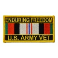 Enduring Freedom Army Patch- with the option to have it added to a hat