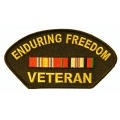 Enduring Freedom Hat Patch- with the option to have it added to a hat