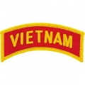 "PATCH-VIETNAM,TAB (CLR) (1""X3-1/2"")"