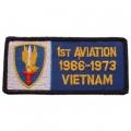 "PATCH-VIET,BDG,ARMY,001ST 1966-1973 AVIATION (4-1/4"")"
