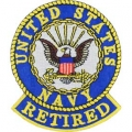 "PATCH-USN LOGO, RETIRED (3"")"