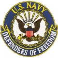 "PATCH-USN, DEFENDERS OF FREEDOM (3-1/2"")"