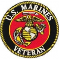 "PATCH-USMC LOGO, VETERAN (3"")"
