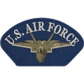 "PATCH-USAF, HAT, JET (2-3/4""X5-1/4"")- WITH THE OPTION TO ADD TO A HAT"